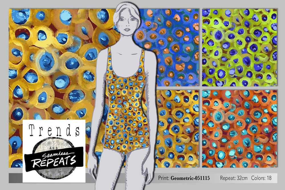 Here's what's included: 1 Photoshop Seamless Pattern Repeats format 300 dpi perfect to use as a Photoshop fill. 4 colorways - Blue, Lime, Orange, Gold Indexed to 18 colors Repeat size is 32cm x 32 cm 1 pdf - How to use fill files 1 video - How to use fill files or link to vimeo