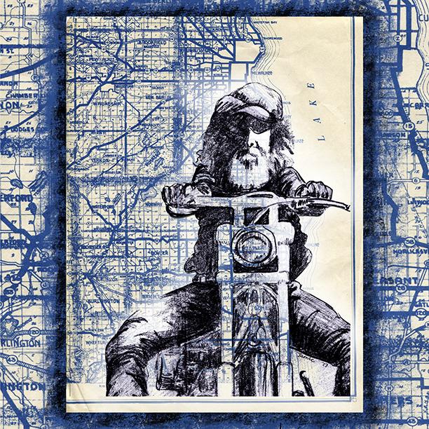 Archival Art Prints  Bikers -