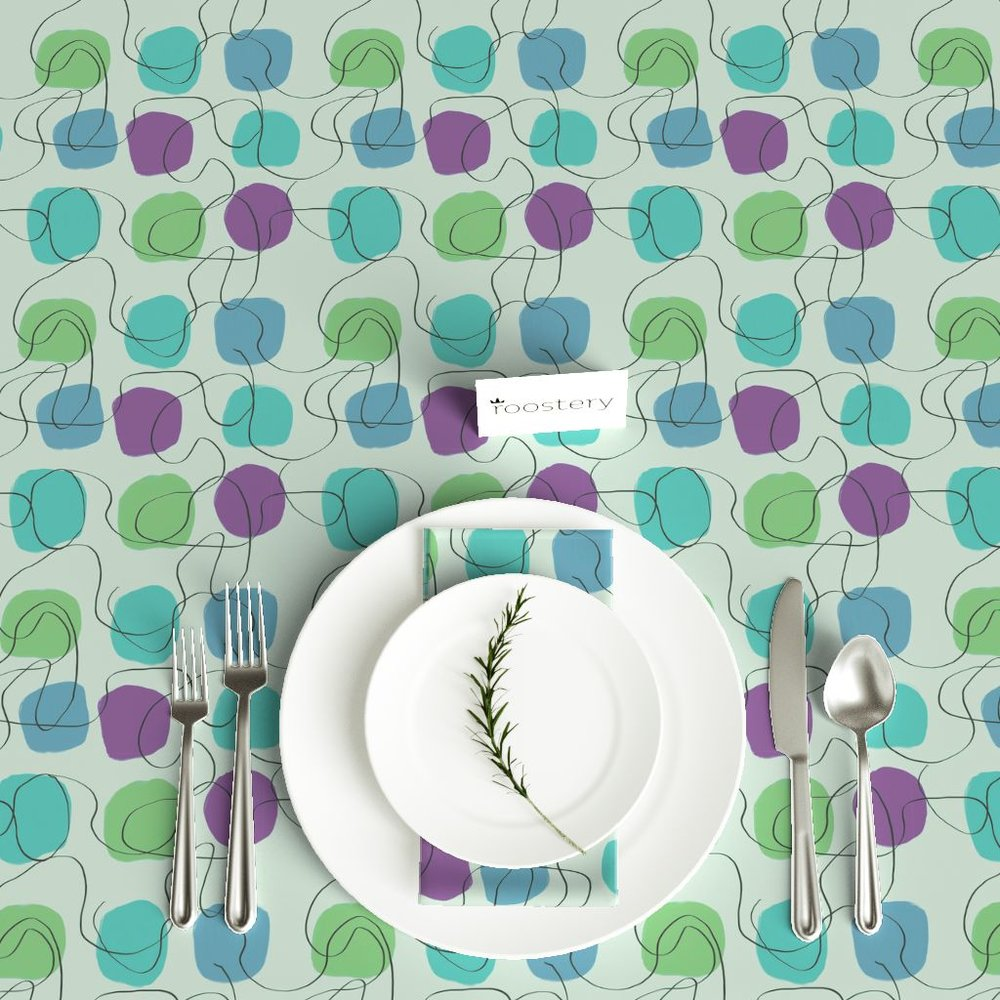 1950's Friday Night Table Cloth