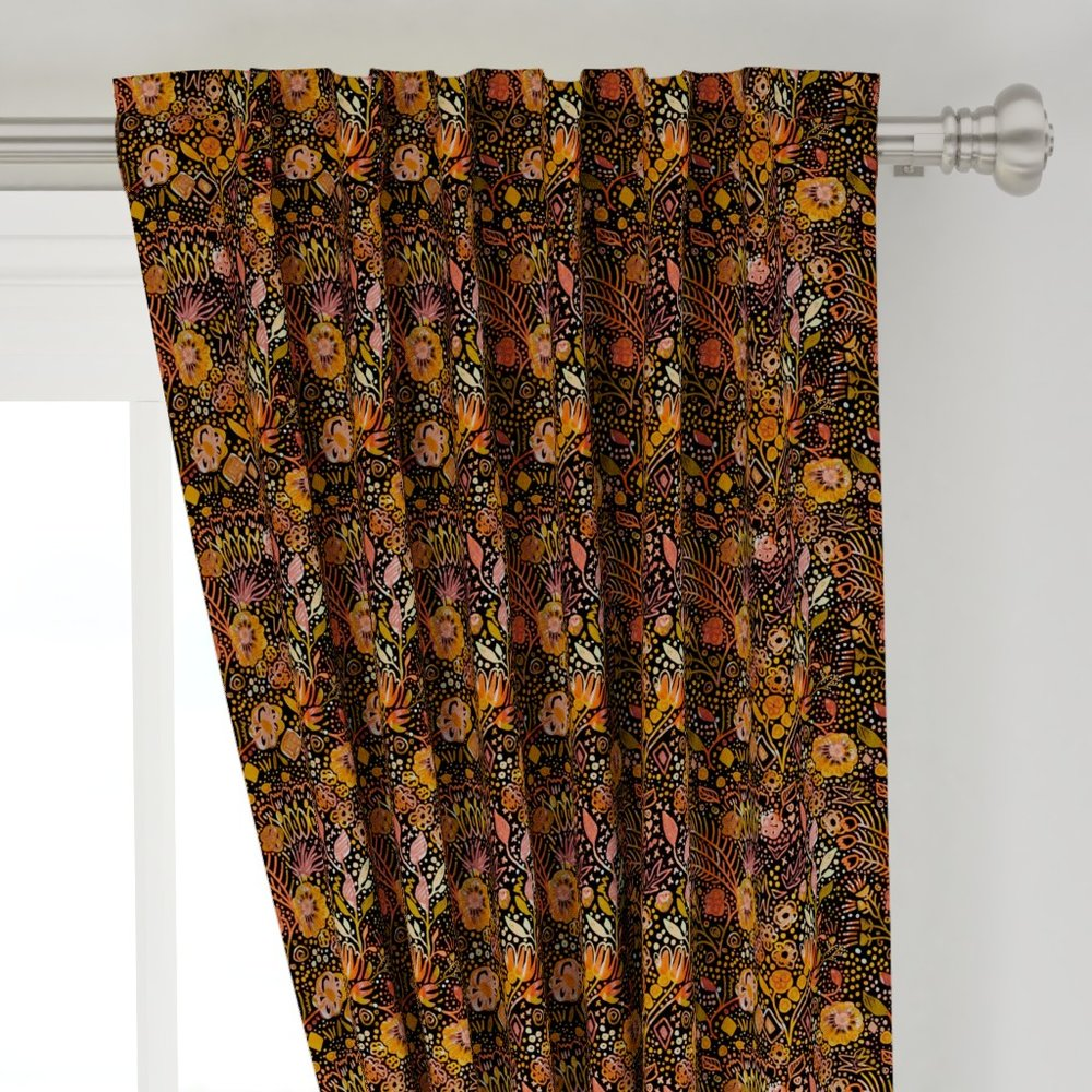 Fall Floral Focal Curtain