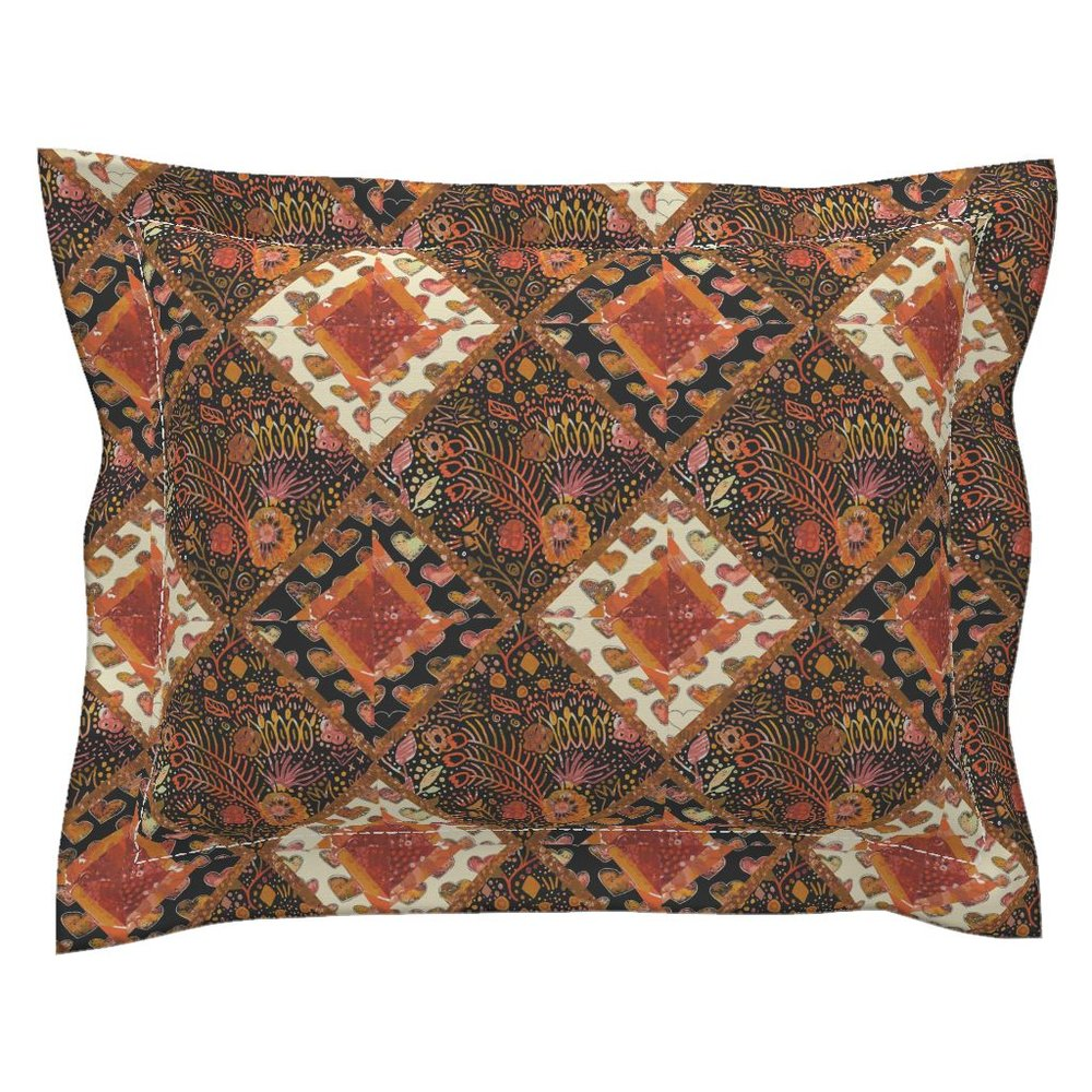 Fall Floral Pillow Sham