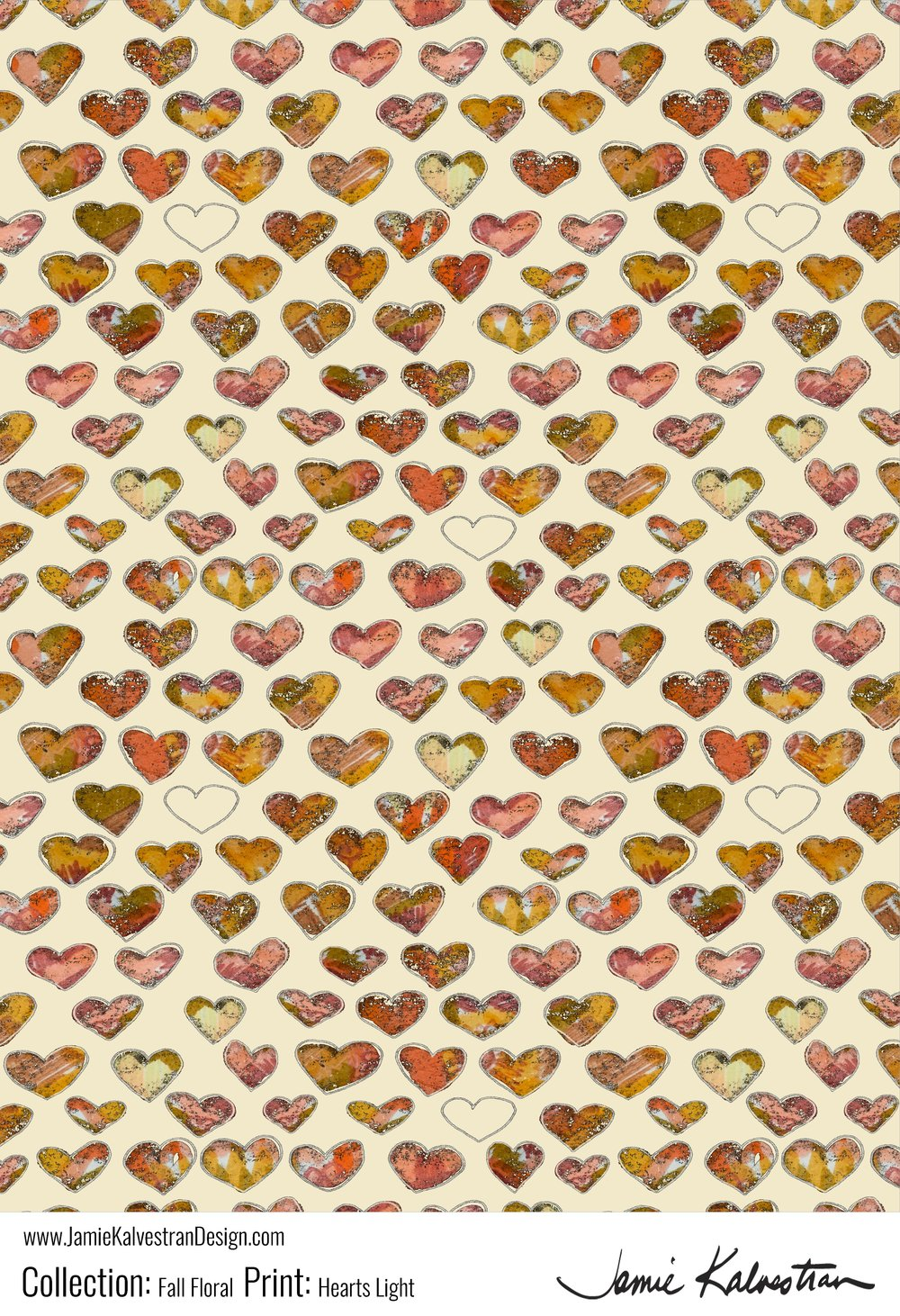 Fall Floral Hearts Lt