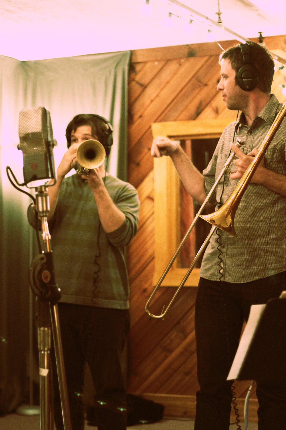 Chad Fisher (trombone), Rob Alley (trumpet)