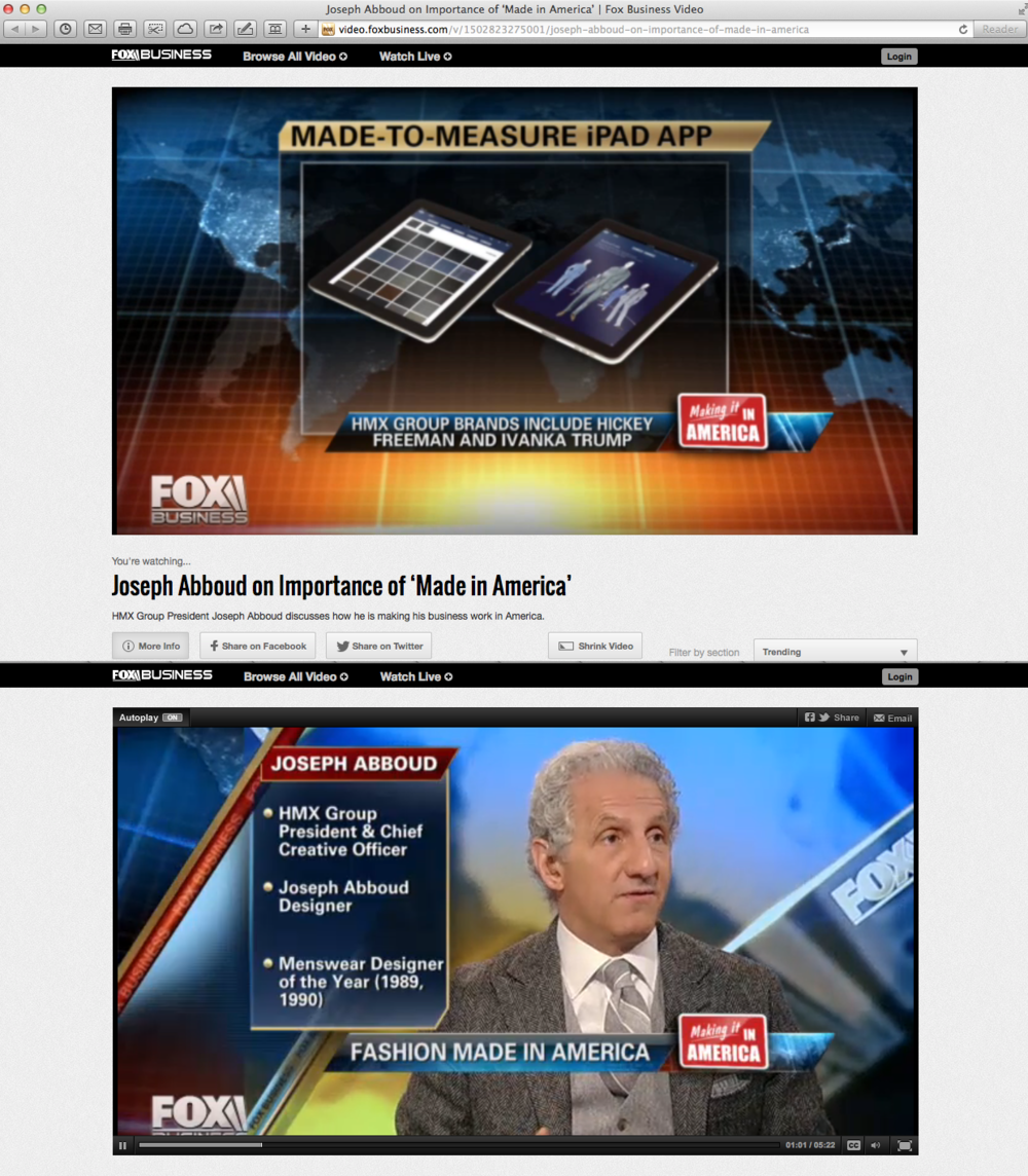 FOX Business - Joseph Abboud interview