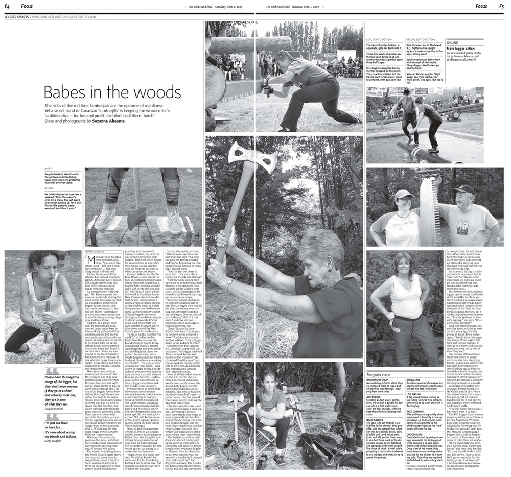 Babes in the Woods. Double-page spread, Focus, Globe and Mail. September 2007