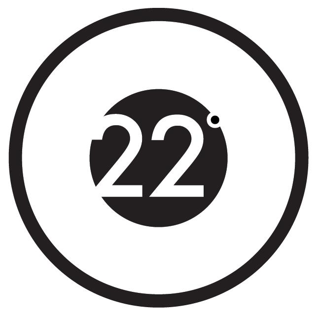 22 degrees