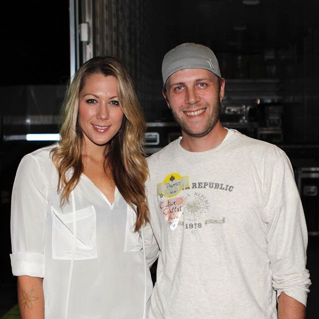 Six years ago today hanging out backstage with Colbie Caillat.