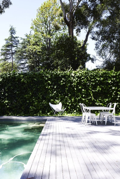 Weathered deck & pool {image via megan morton}