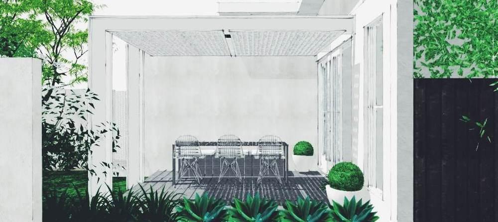 The garden space sans trellis -- hmm not green enough!