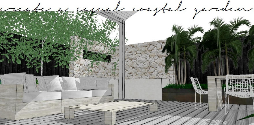 create a casual coastal garden | slightly garden obsessed
