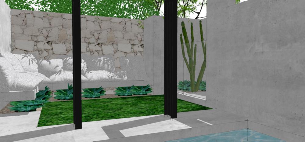 Wanderlust Courtyard | Slightly Garden Obsessed