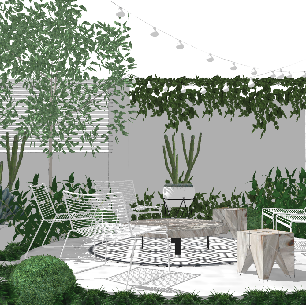 Courtyard Perspective | Slightly Garden Obsessed
