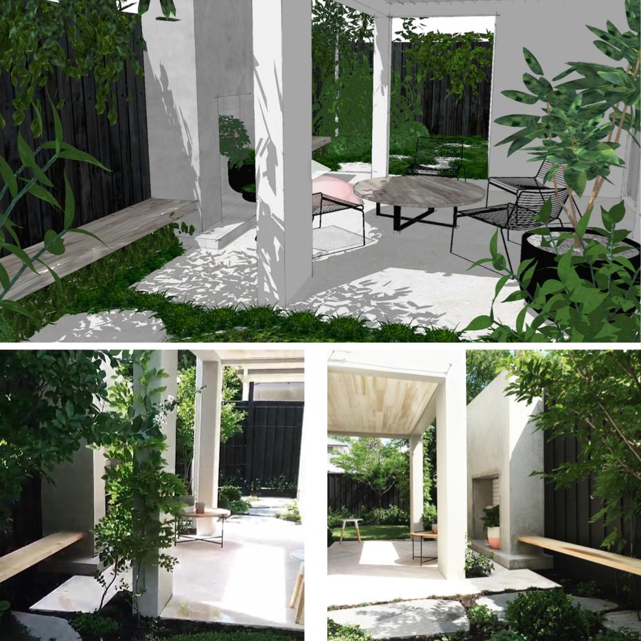 SketchUp Versus Real Life | Slightly Garden Obsessed