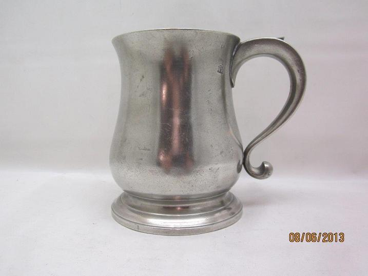 1790 Tulip Shaped Export Pint Item #48