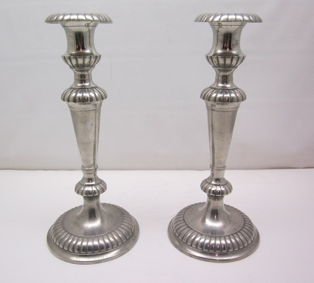 Tapered Gadrooned Candleholders       Item #56