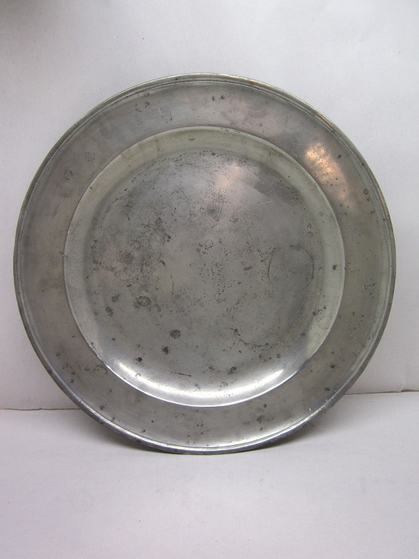 "16 1/2"" english 18th century platter  item #8-636"