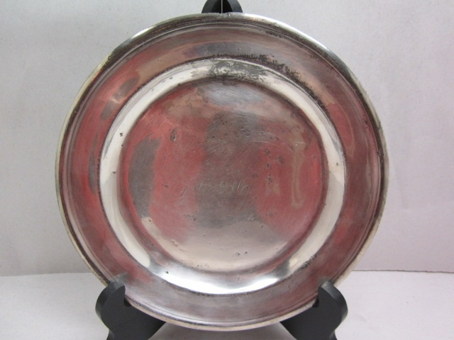 "silver plated ""cam"" english plate item #br-686"