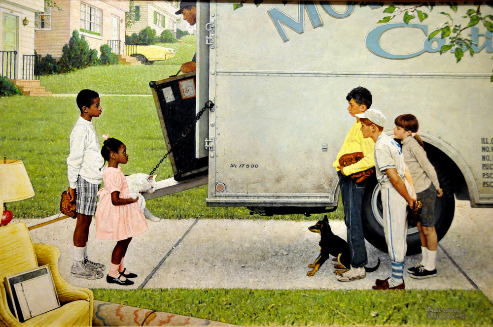 'New Kids in the Neighborhood' by Norman Rockwell