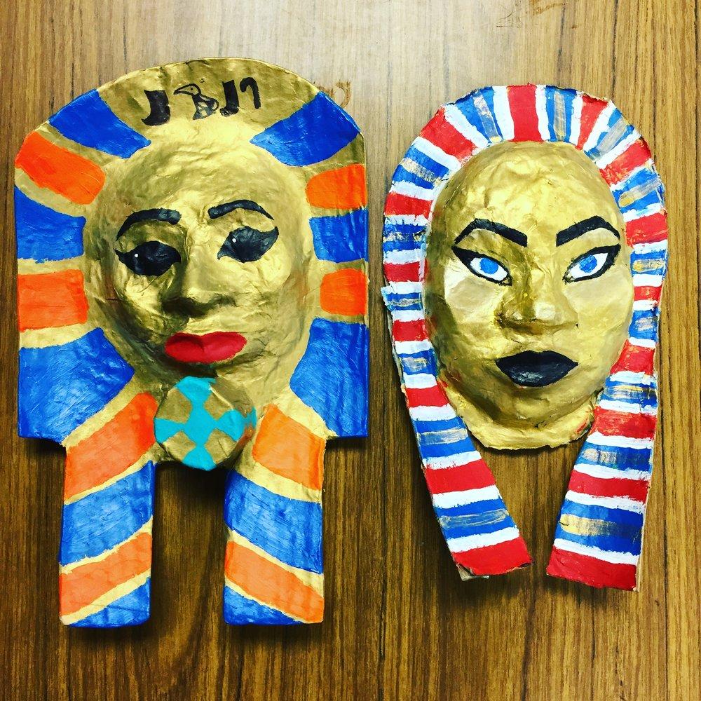 Egyptian death masks //8th grade // 2016