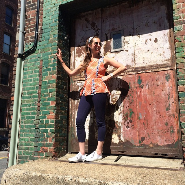 Day 2: Cotelac Prints on Prints. (Gap/Jack Purcell/Fort Point) #fdfw #bostonstyle #ootd #style #workoutchic #frenchfashion #patternsfordays