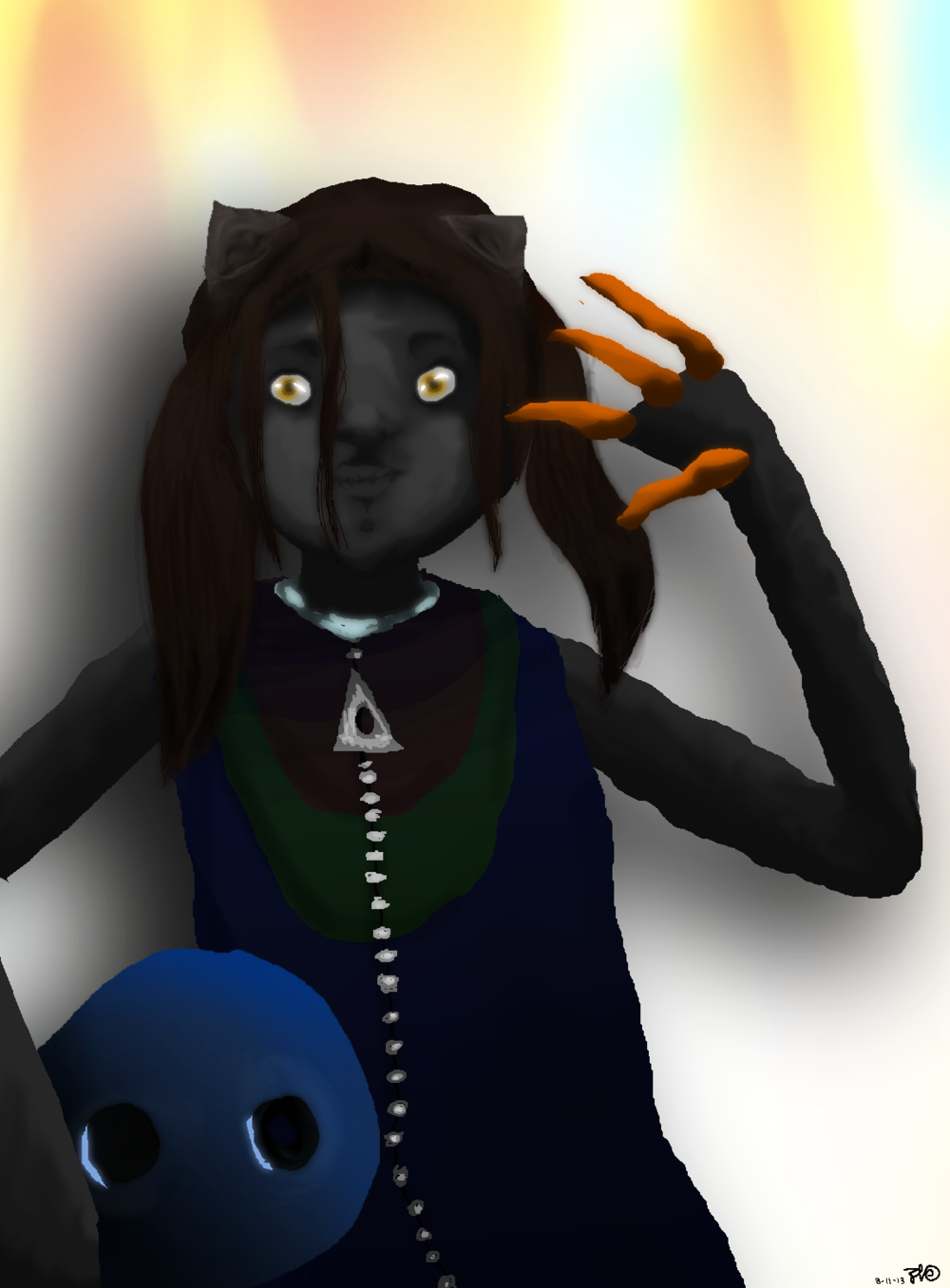 """""""Deminchello"""", my main character from Stormforest."""