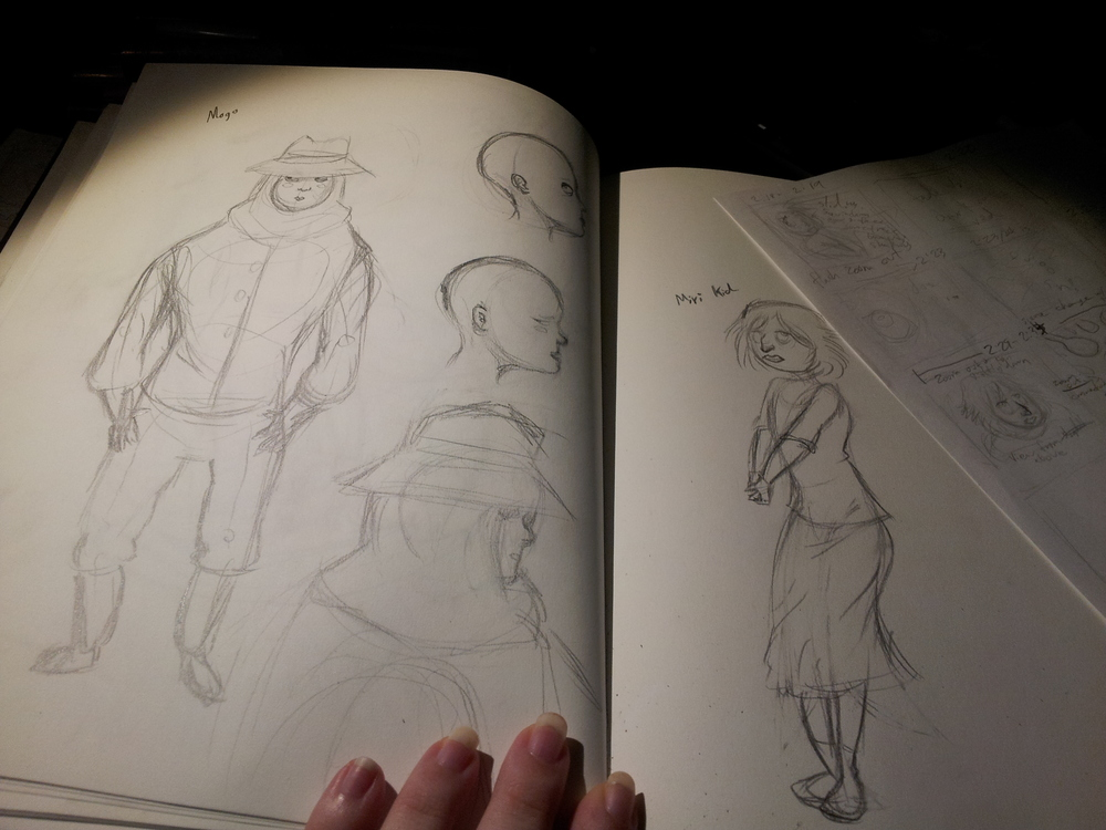Character concepts + a splash of storyboard