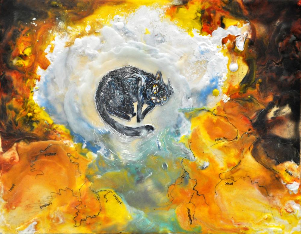 Incubation,Grand Prize winner in local Blick's Art Store contest