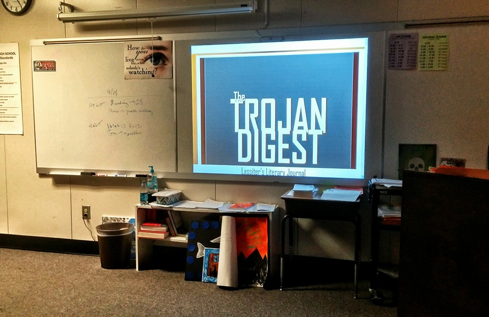 The staff premiere of The Trojan Digest