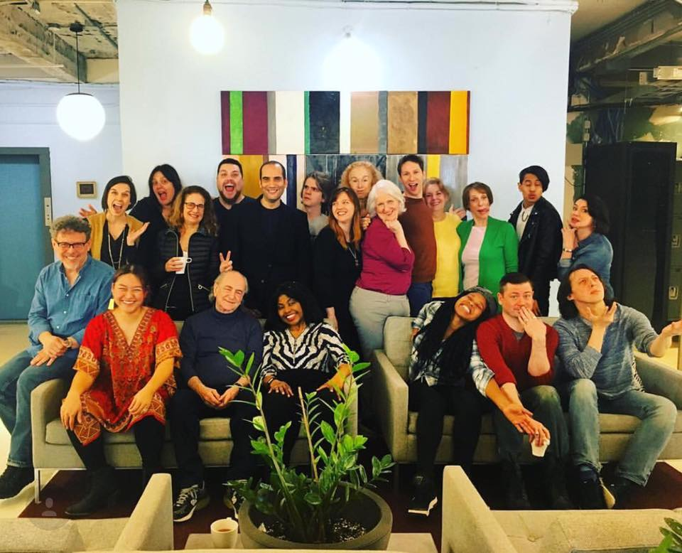 Dan (top row, fifth from the right) at the Planet Connections Theatre Festivity,  Playwrights for a Cause  in New York. (Photo by Planet Connections)