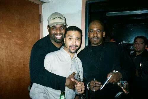 Frankie Knuckles with the 'Krush' crew. (Sergio is photobombing on the far right)
