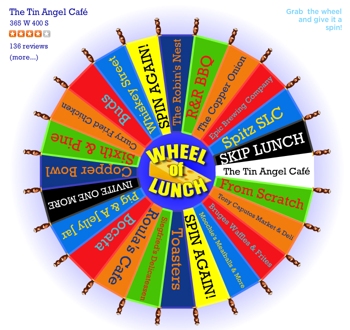 wheel of lunch new city movement