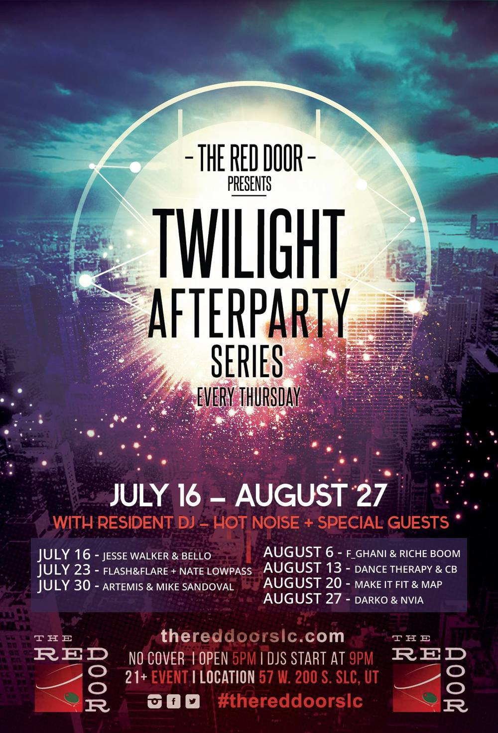 The Red Door Pres. Twilight Afterparty Series, Every Thursday