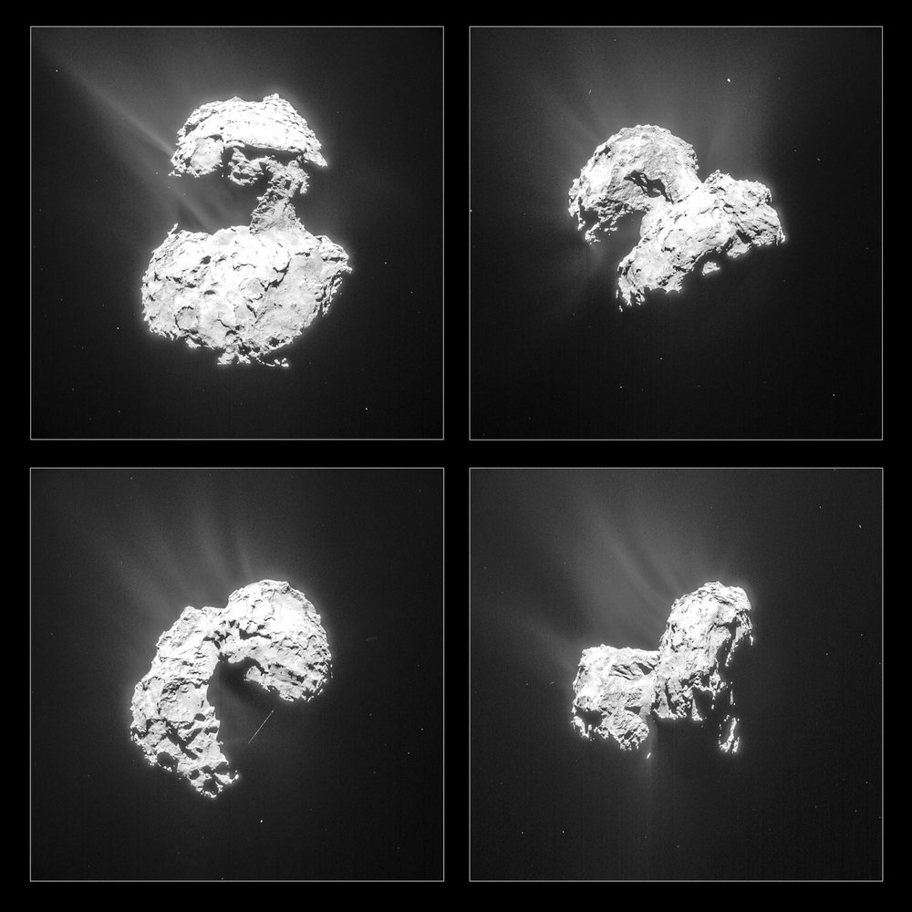Increasing activity end February 2015, ESA / Rosetta / NAVCAM, CC BY-SA 3.0 IGO [Wikipedia]