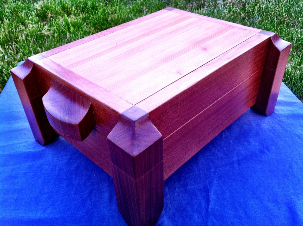 old-growth redwood jewelry chest