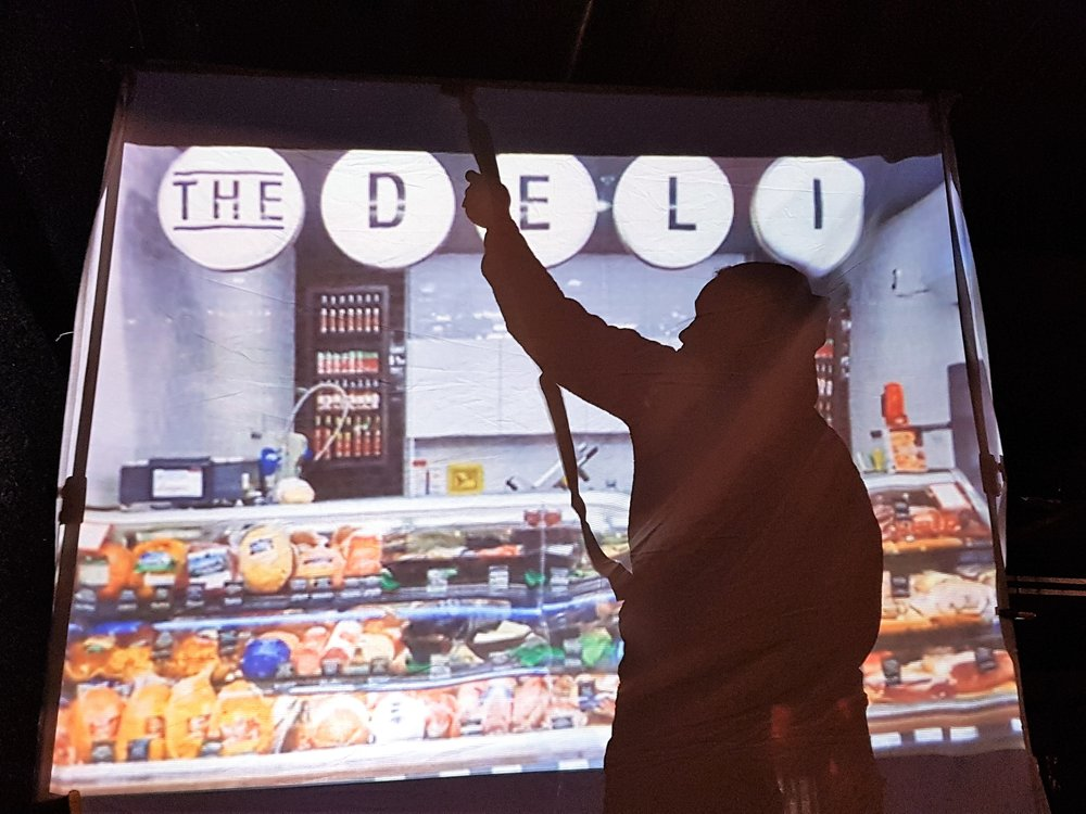 "The Tale of a Town Storygathering ""Deli"" Installation"