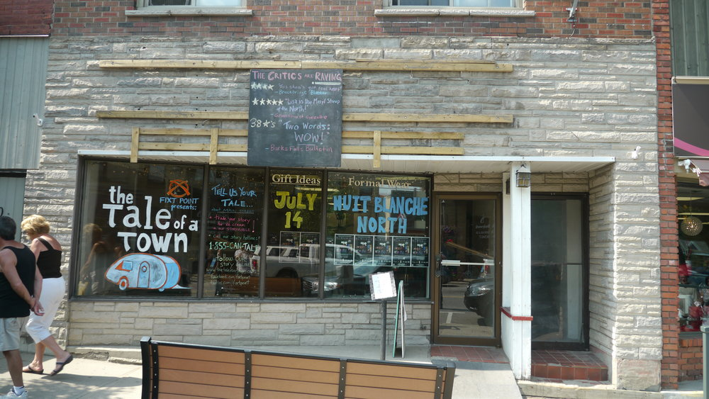 TOAT Huntsville Ontario Storygathering Tour Front Store