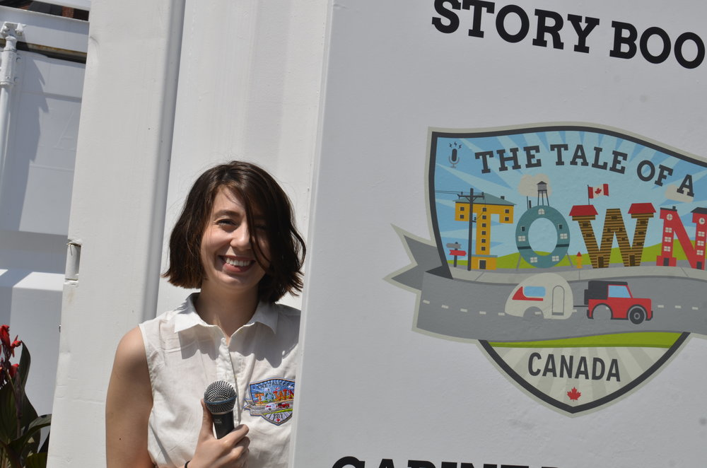 Anastasia Pivnicki at the TOAT Storygathering Booth in Ottawa Inspiration Village