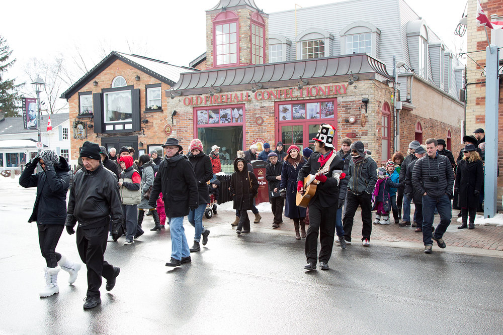 """""""The Markham Tale"""" Production Crowd in Downtown Unionville, Ontario"""