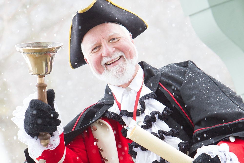 """Town Crier in """"The Markham Tales"""" Production at Downtown Unionville Ontario"""