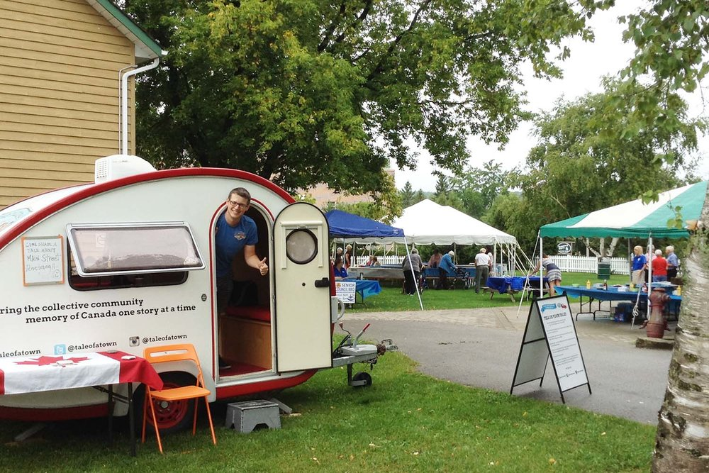 The Tale of a Town Storymobile at  Penetanguishene, Centennial Museum Seniors' BBQ