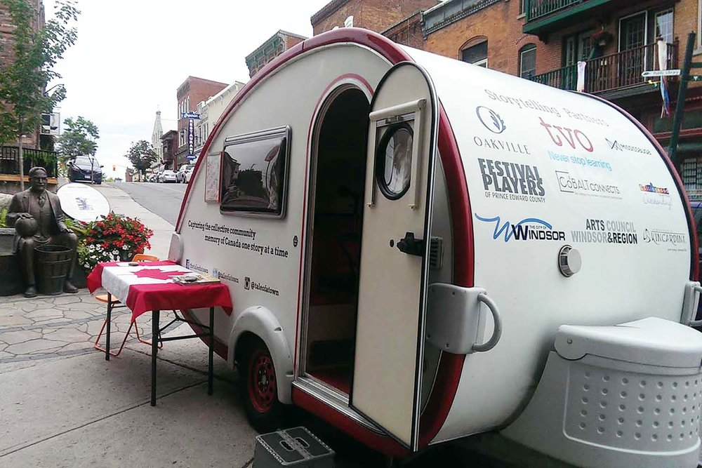 The Tale of a Town Storymobile Parked on Almonte's Famous Mill Street