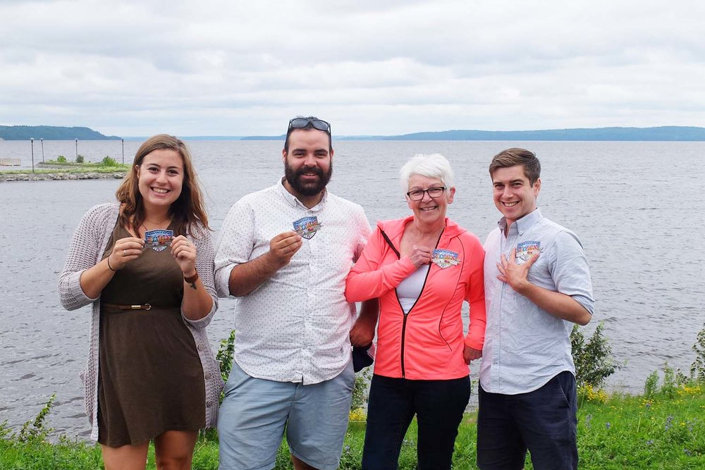 The Tale of a Town Temiskaming Ontario Storygathering Team at the Haileybury Waterfront