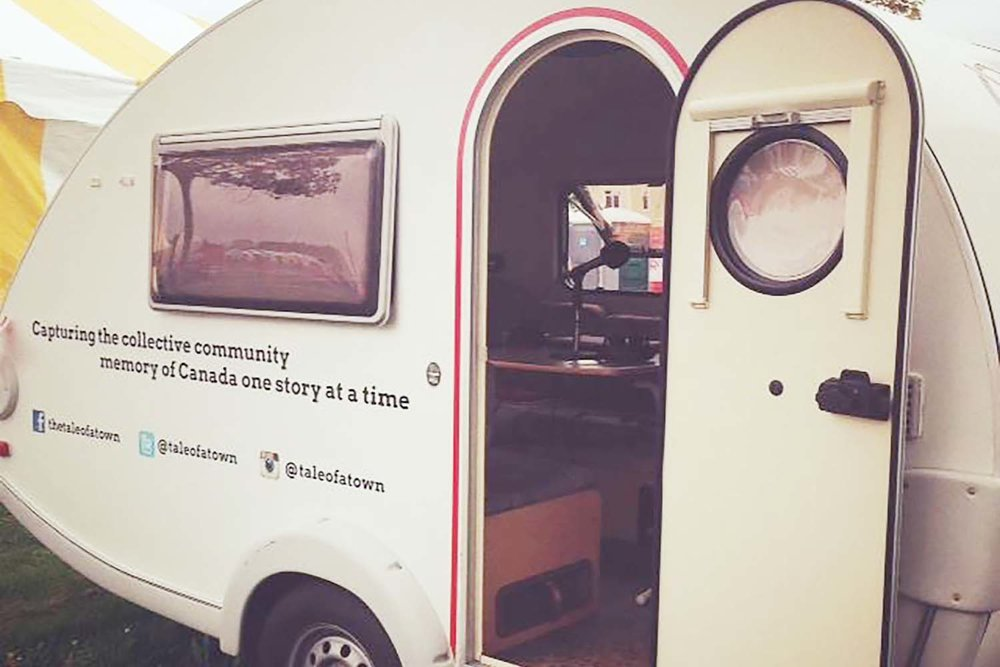 The Tale of a Town Storymobile at PEI 2014 Celebration Zone in Charlottetown