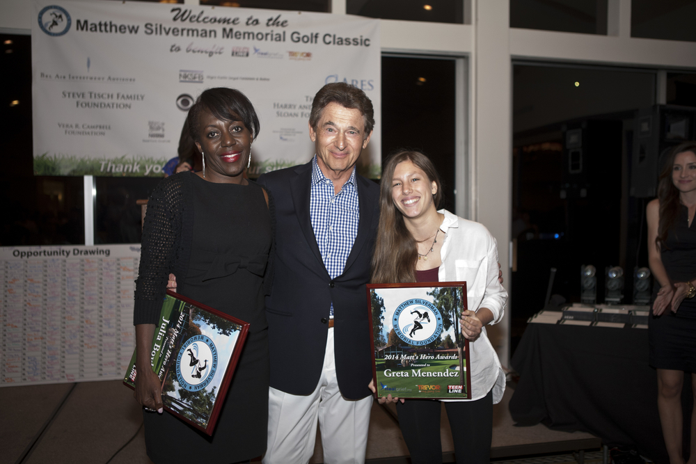 At the 2014 Matthew Silverman Memorial Golf Tournament on April 21, we were delighted to    to announce   the first two recipients of this award, Ms.   Greta Melendez and M  rs. Julia   Bo  yle  . Thank you to Greta and   Julia   for all that you've done!