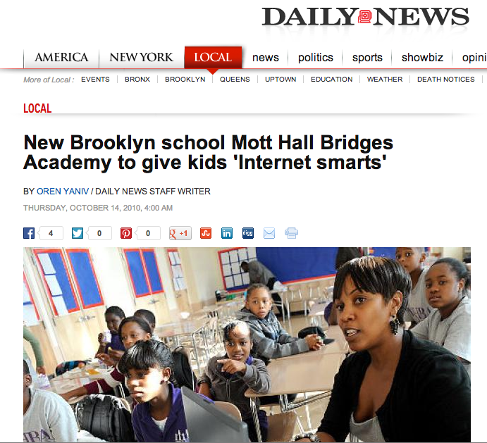 The Daily News covered our launch.