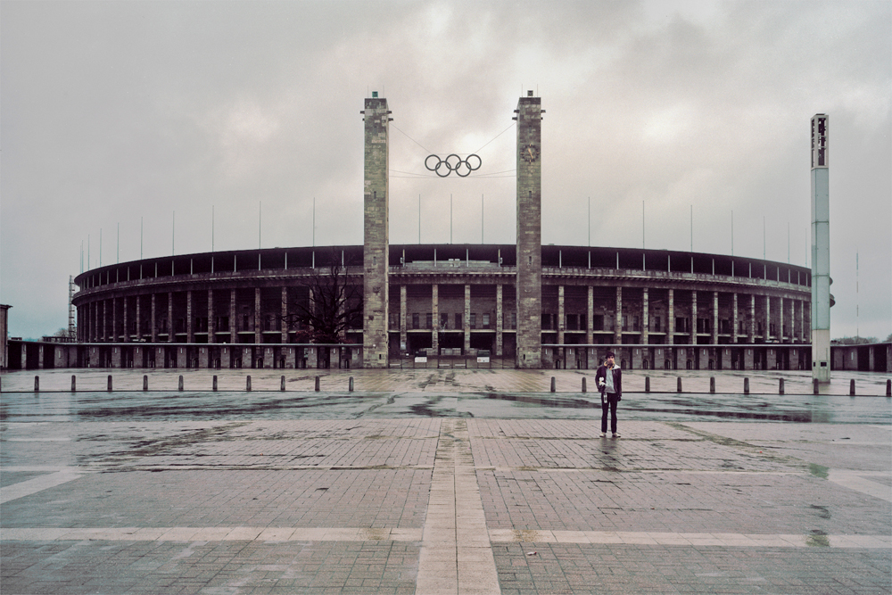 Grandma and I at the Olympiastadion in Berlin, 2011