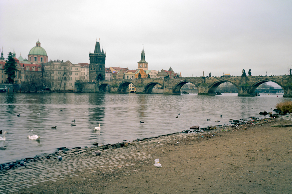 Grandma near the Charles Bridge in Prague, Czech Republic, 2011
