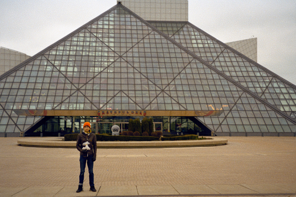 Grandma and I at the Rock and Roll Hall of Fame, 2013