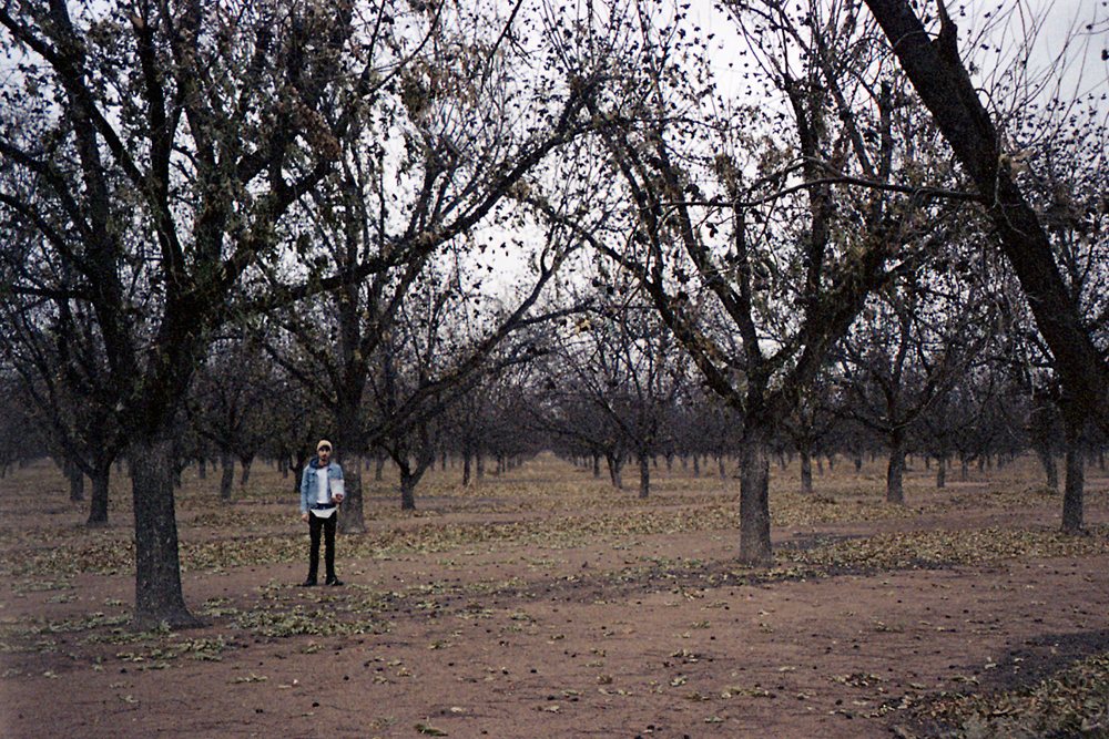 Grandma and I in a pecan field in Georgia, 2013