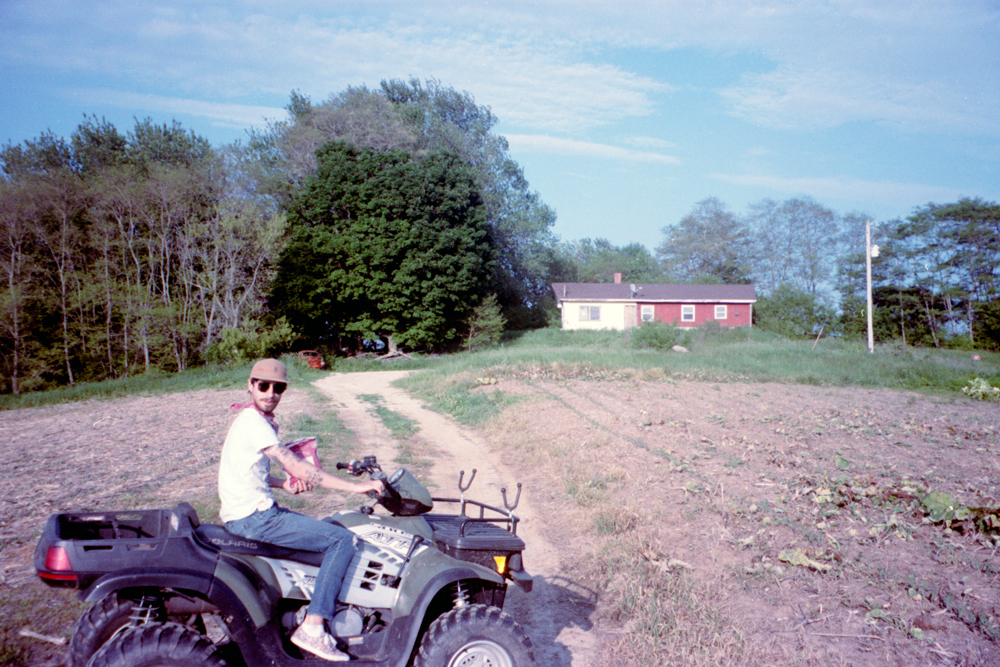 Grandma and Me on an ATV in the Driftless Lands of Wisconsin, 2015